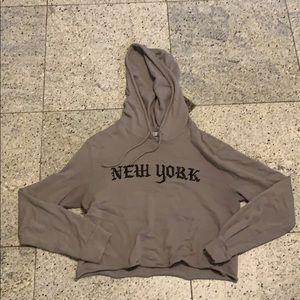 New York grey sweatshirt size medium a lil cropped